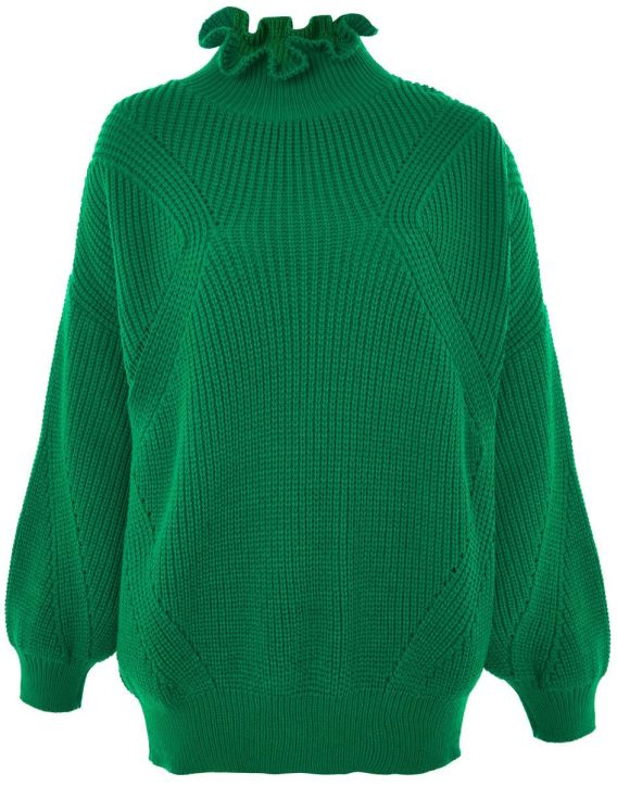 Frill Neck Sweater.