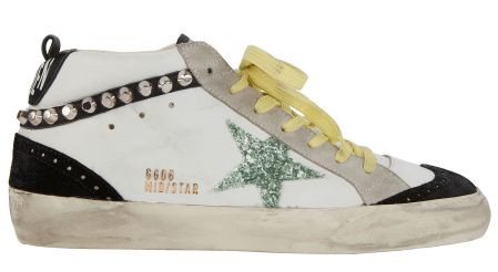 Golden Goose Superstar Studded Mid-Top Sneakers