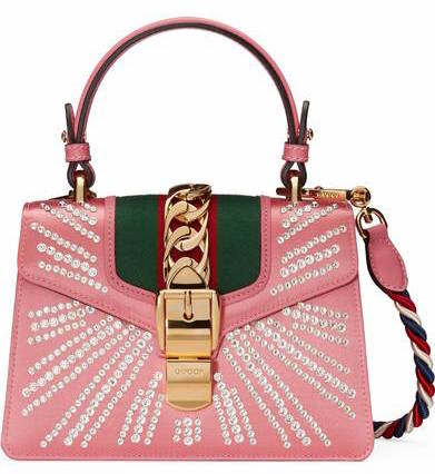 Gucci Crystal Burst Top Handle Shoulder Bag