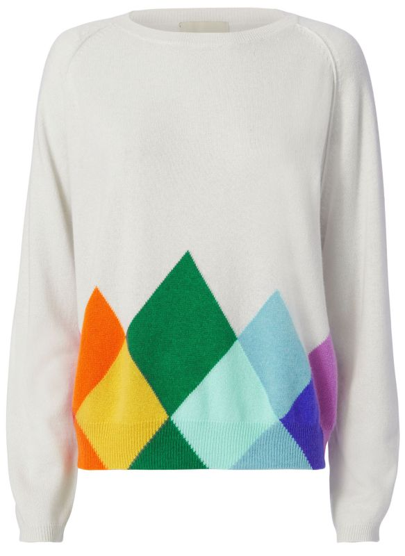 Jumper 1234 Rainbow Argyle Cashmere Sweater