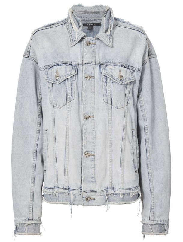 Ksubi Chilz Oversized Ripped Denim Jacket