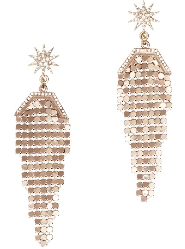 Lulu Frost Metallic Chandelier Earrings