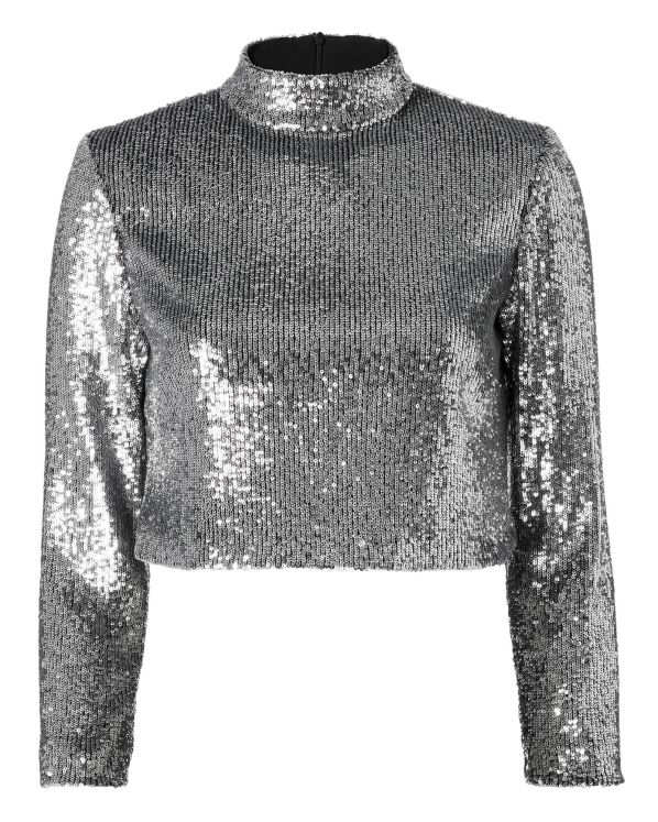 A.L.C. Keegan Sequin Crop Top