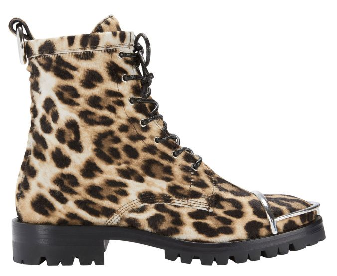 Alex Wang Leopard Haircalf Combat Boots