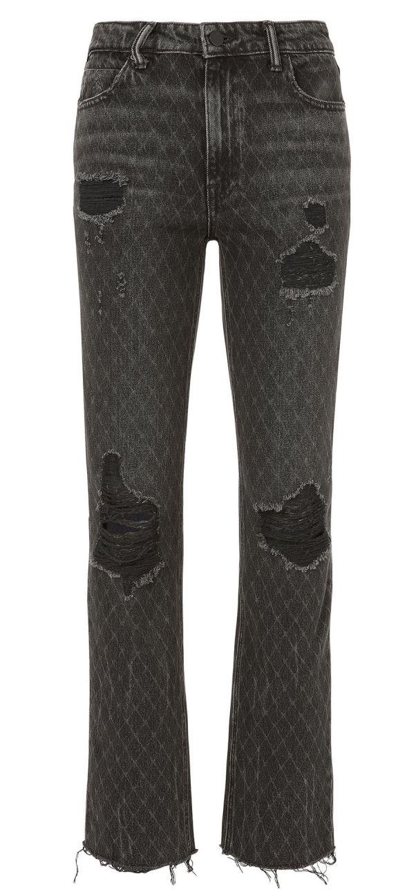 Alexander Wang Cult Net Distressed Grey Jeans