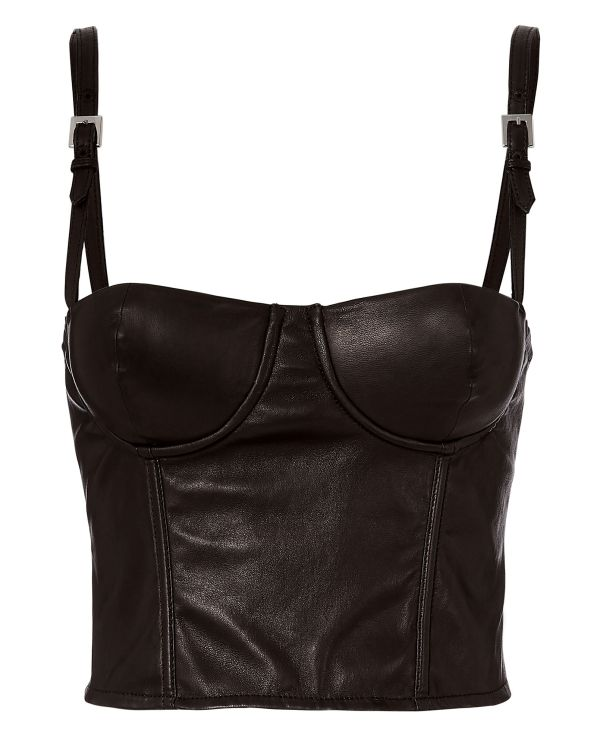 Fleur Du Mal Leather Bustier Top