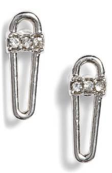 Rebecca Minkoff Saftey Pin Earrings